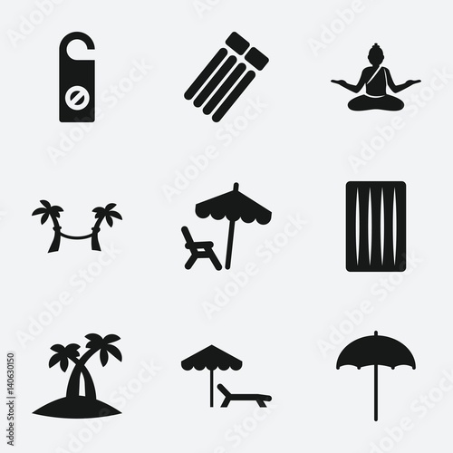 Set of 9 relax filled icons - 140630150