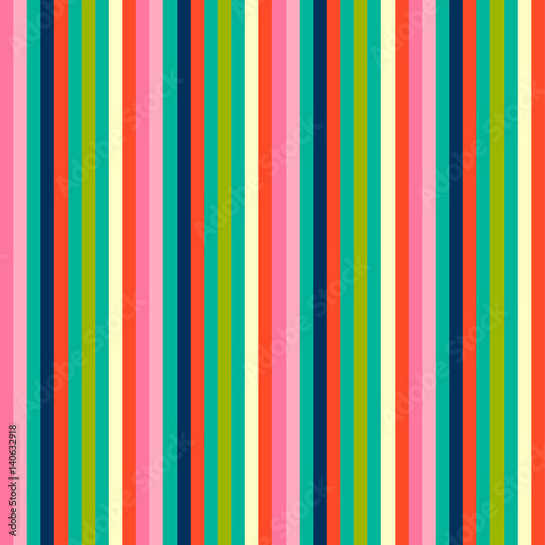 Cotton fabric Striped seamless pattern. Colorful line vector background. Cheerful colors with fun stripes