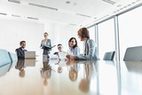 Fototapety Businesspeople in conference room