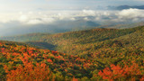 Autumn panorama on the Blue Ridge Parkway from Grandfather Mountain