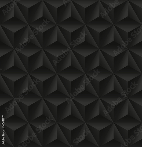 Seamless pattern with black triangular relief - 140651917