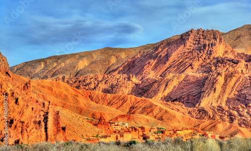 Aluminium Oranje eclat Landscape of Dades Valley in the High Atlas Mountains, Morocco