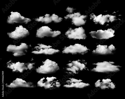 Clouds on black background - 140662989