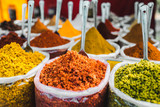 India spices at the local market at Delhi. - 140669344