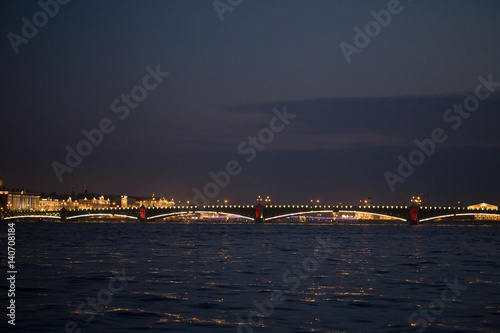 Foto op Canvas Milan Saint-Petersburg City from Water in the Night