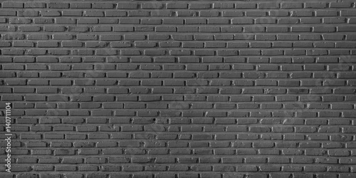 Black brick wall background and textextured, Seamless brick wall background