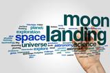 Moon landing word cloud
