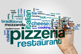 Pizzeria word cloud