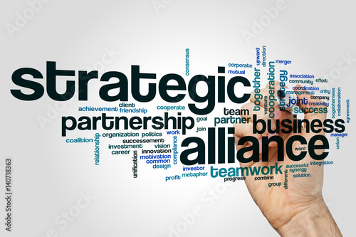 Strategic alliance word cloud Poster
