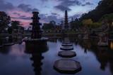 Tirta Gangga Water Palace stone walkway - Bali, Indonesia