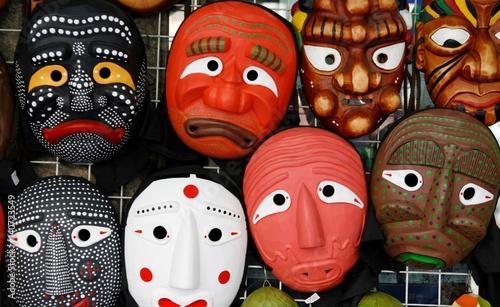 Fotobehang Seoel Korean traditional masks