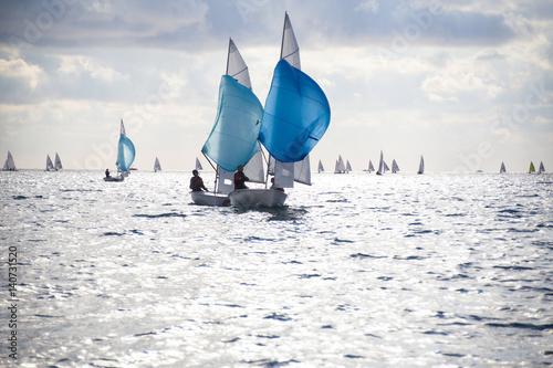 Fotobehang Zeilen sailing Regatta on sea