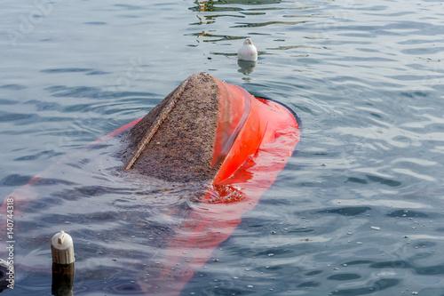Poster  bateau coulé
