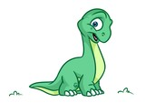 Dinosaur  Cartoon Illustrations  Image Animal Character Wall Sticker
