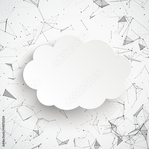 Cloud Abstract Background Connected Dots