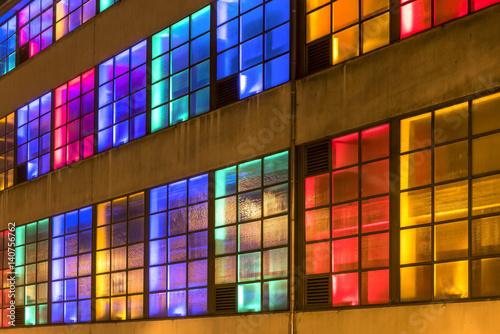 Gebäude im Licht плакат