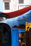 Detail of a street in the village of Chefchaouen in Morocco, a fantastic destination for a holiday