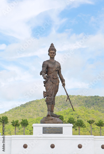 Poster Hua Hin , Thailand  : King Ramkhamheang statue at Raja Bhakti park ,The Great King of Thailand monument new landmark in Hua Hin, Thailand