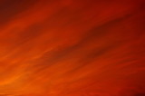 orange cloud and sky spreading on sunset background