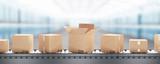 Pacchi o scatole da spedizione su rullo  - 140778722