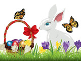 Crocus and Easter Rabbit