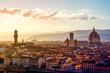 Quadro Blick über Florenz vom Michel Angelo Platz
