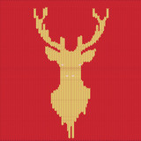 Knitted Deer Pattern