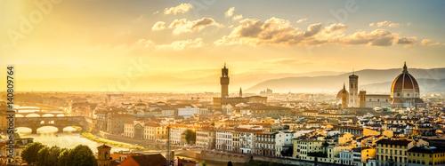 Staande foto Florence Blick über Florenz vom Michel Angelo Platz