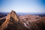 Man standing on the Massif du Sancy peak