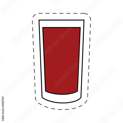 glass cup beverage alcohol image vector illustration eps 10