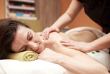 body massage in spa salon