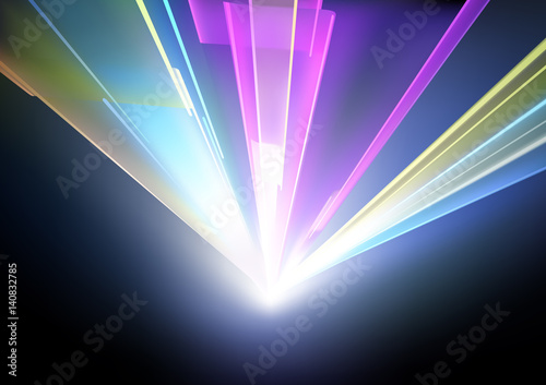 Fototapeta Disco Lights Background with Laser Effect - Abstract Illustration, Vector