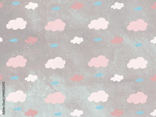Fondo de patrón de nubes de colores - 140832950