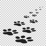 Paw print icon vector illustration isolated on isolated background. Dog, cat, bear paw symbol flat pictogram. - 140835140
