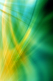 Abstract wavy background in green and yellow colors