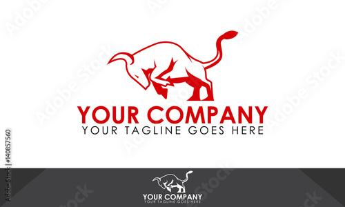 Bull logo, bull illustration, bull vector template