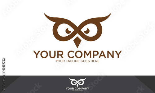 Owl logo, owl illustration, owl vector template