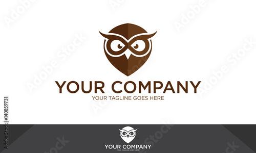Owl logo, owl illustration, owl vector template