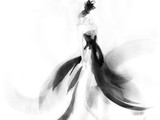 Woman style. Runway elegant dress. Fashion illustration. Watercolor painting - 140864764