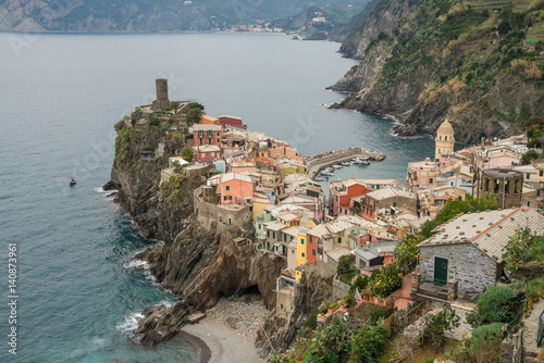 Poster Scenic and colorful Cinque terre village in Italy