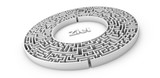 Labyrinth oder Irrgarten mit Ziel im Zentrum - Konzept Aufgabe, Lösung, Ziel, Problem - 140880525