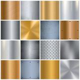 Metal Texture Realistic Big Icons Set - 140881953