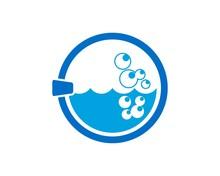 Washing Machine Door Logo Sticker
