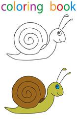 Vector, book coloring snail