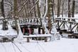 Nature park Vrelo Bosne near Sarajevo - Bosnia and Herzegovina, winter scene