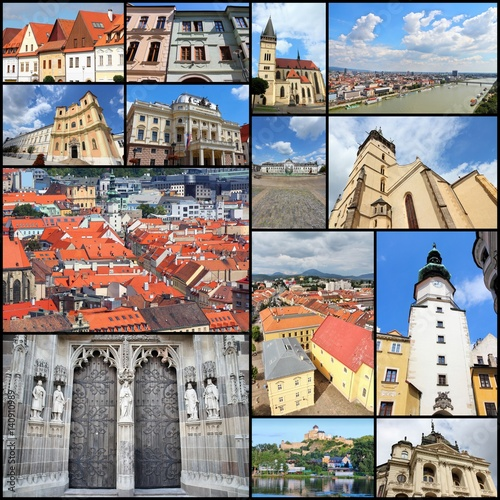 Poster Slovakia travel - photo collage