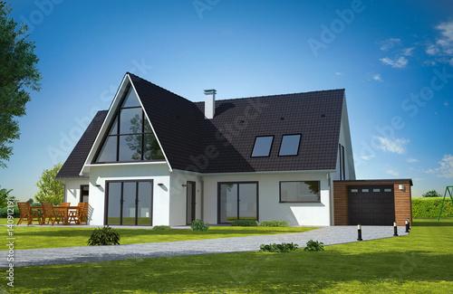 Belle maison contemporaine moderne