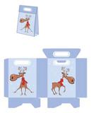 Christmas Deer, Handbags Packages Pattern