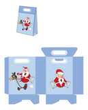 Cute Santa Claus. Handbags Packages Pattern