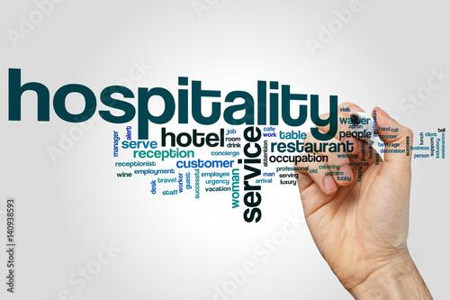 Hospitality word cloud